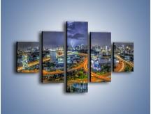 Obraz na płótnie – Burza nad Bangkokiem – pięcioczęściowy AM622W1