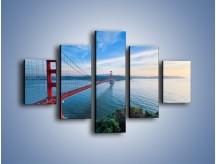 Obraz na płótnie – Most Golden Gate wczesnym rankiem – pięcioczęściowy AM636W1