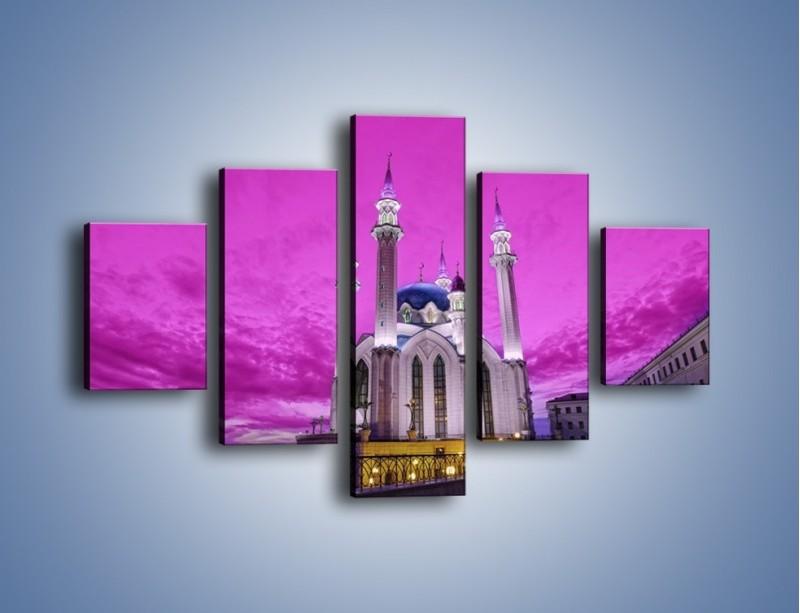 Obraz na płótnie – Meczet Kul Szarif – pięcioczęściowy AM642W1
