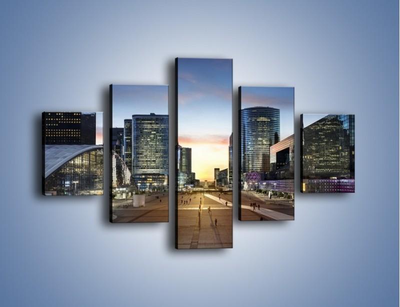 Obraz na płótnie – Quartier La Défense w Paryżu – pięcioczęściowy AM647W1