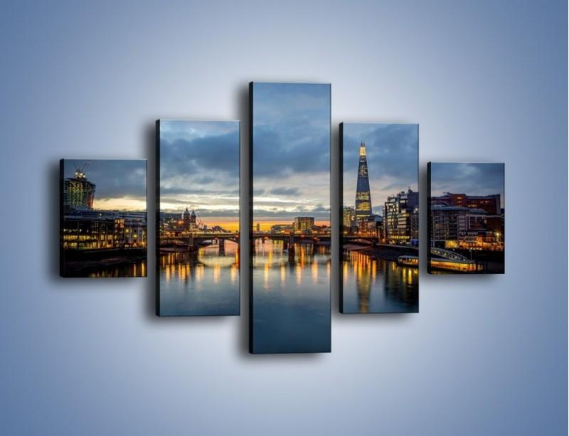 Obraz na płótnie – Millennium Bridge w Londynie – pięcioczęściowy AM651W1