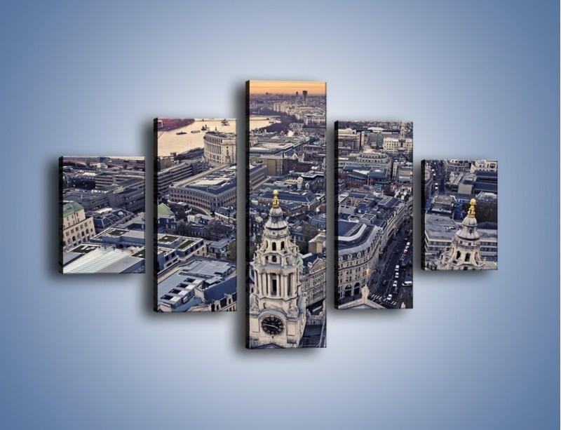Obraz na płótnie – Widok na Londyn z Katedry św. Pawła – pięcioczęściowy AM652W1