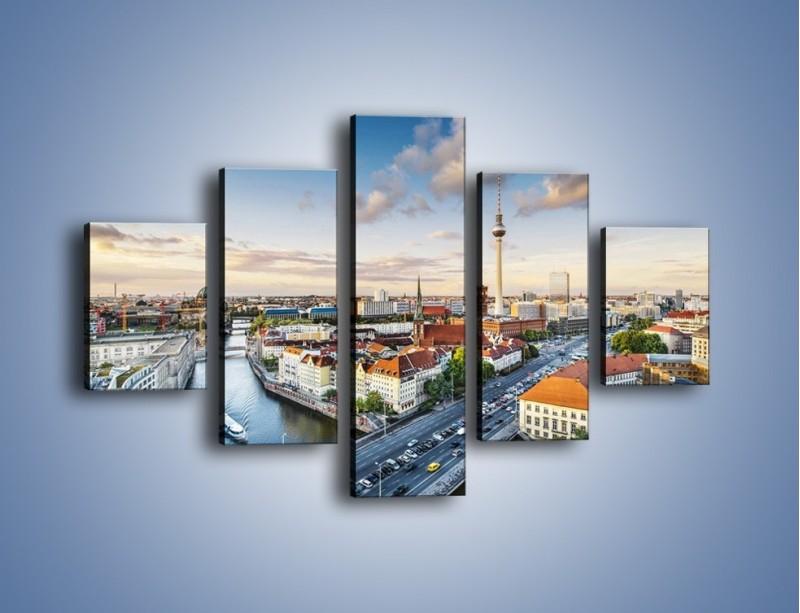 Obraz na płótnie – Panorama Berlina – pięcioczęściowy AM673W1