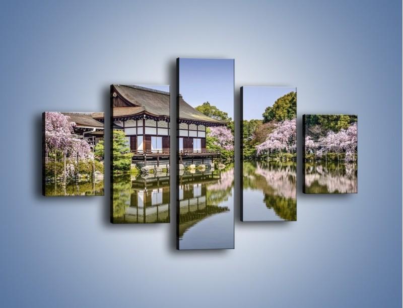 Obraz na płótnie – Świątynia Heian Shrine w Kyoto – pięcioczęściowy AM677W1