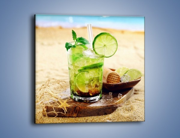 Obraz na płótnie – Leniwy drink na plaży – jednoczęściowy kwadratowy JN551
