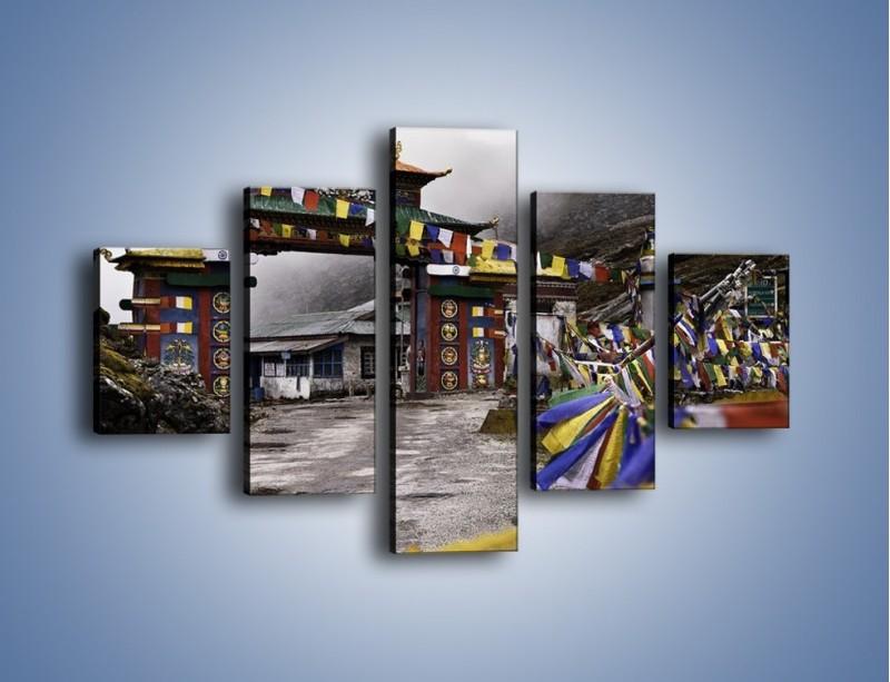 Obraz na płótnie – Brama do miasta Tawang w Tybecie – pięcioczęściowy AM689W1
