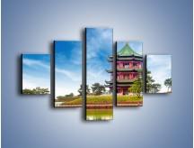 Obraz na płótnie – Chiński ogród w Singapurze – pięcioczęściowy AM715W1