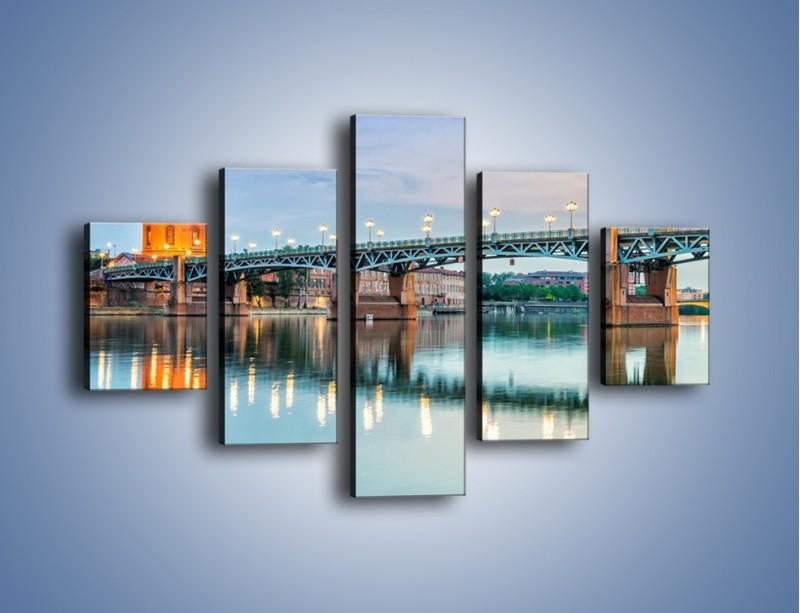 Obraz na płótnie – Most Saint-Pierre w Tuluzie – pięcioczęściowy AM721W1