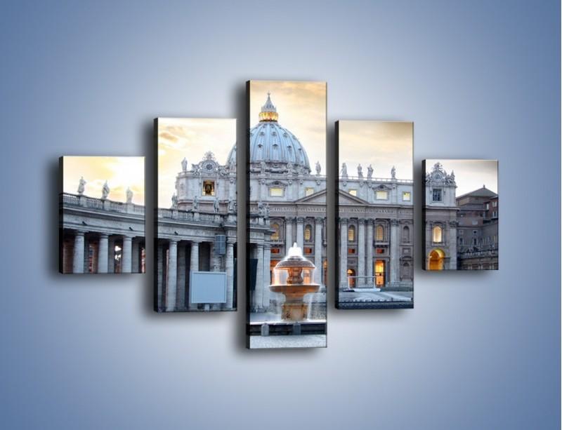 Obraz na płótnie – Bazylika św. Piotra w Watykanie – pięcioczęściowy AM722W1