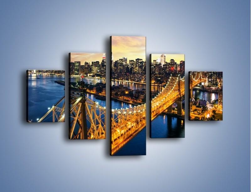 Obraz na płótnie – Queensboro Bridge w Nowym Yorku – pięcioczęściowy AM768W1