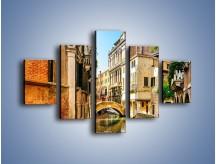 Obraz na płótnie – Romantyczny kanał w Wenecji – pięcioczęściowy AM795W1