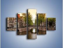 Obraz na płótnie – Amsterdamski kanał – pięcioczęściowy AM800W1