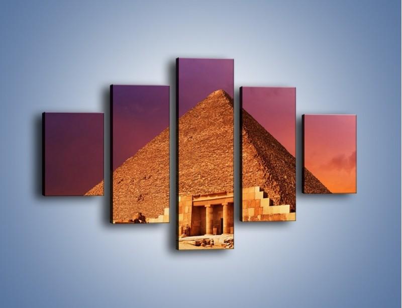 Obraz na płótnie – Piramida w Egipcie – pięcioczęściowy AM812W1