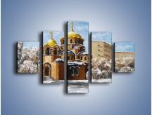 Obraz na płótnie – Cerkiew w trakcie zimy – pięcioczęściowy GR024W1