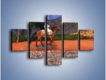 Obraz na płótnie – Arabski szejk na koniu – pięcioczęściowy GR052W1