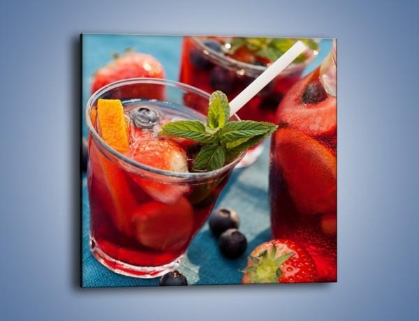 Obraz na płótnie – Kompot z letnich owoców – jednoczęściowy kwadratowy JN556