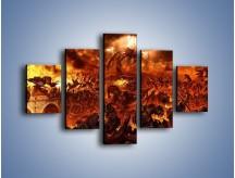Obraz na płótnie – Bitwa z demonami – pięcioczęściowy GR137W1