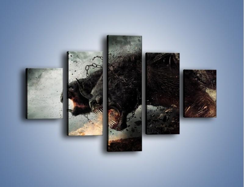 Obraz na płótnie – Groźny podmuch potworów – pięcioczęściowy GR174W1