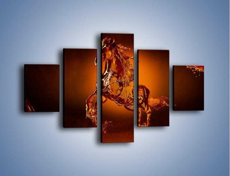 Obraz na płótnie – Wodny koń w mocnym świetle – pięcioczęściowy GR228W1