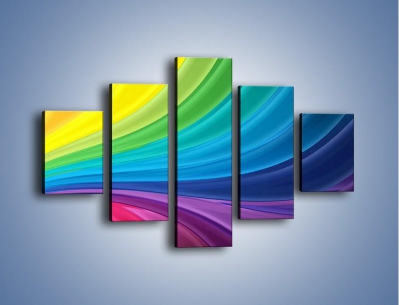 Obraz na płótnie – Zachowane kolory tęczy – pięcioczęściowy GR424W1