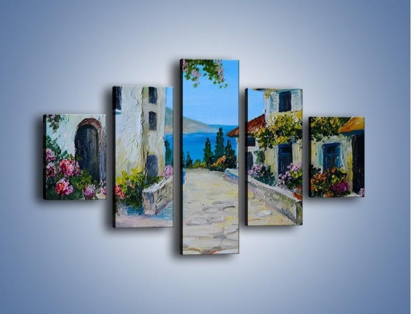 Obraz na płótnie – Urok włoskich uliczek – pięcioczęściowy GR459W1