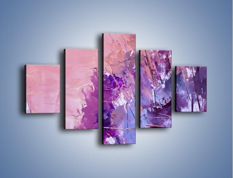 Obraz na płótnie – Mocna barwa fioletu – pięcioczęściowy GR472W1