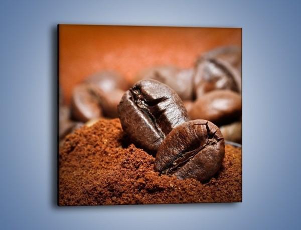 Obraz na płótnie – Zakopane ziarna kawy – jednoczęściowy kwadratowy JN563