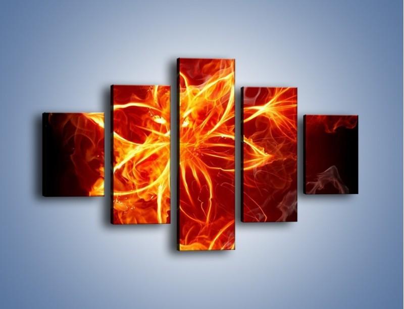 Obraz na płótnie – Spłonąć jak kwiat – pięcioczęściowy GR527W1