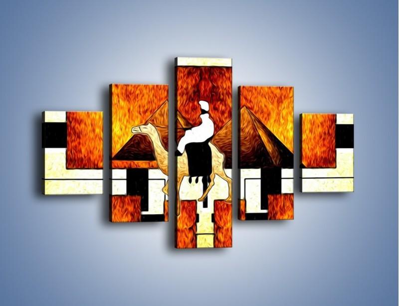 Obraz na płótnie – Wędrówka na wielbłądzie – pięcioczęściowy GR593W1