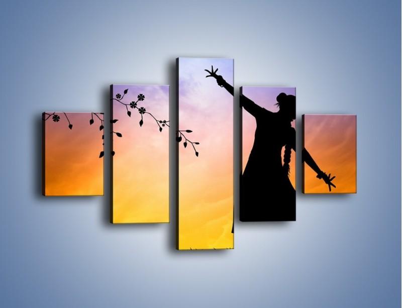 Obraz na płótnie – Wieczorny cygański taniec – pięcioczęściowy GR597W1