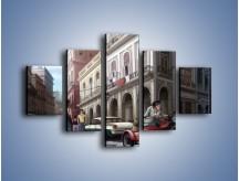 Obraz na płótnie – Codzienne życie na kubie – pięcioczęściowy GR627W1