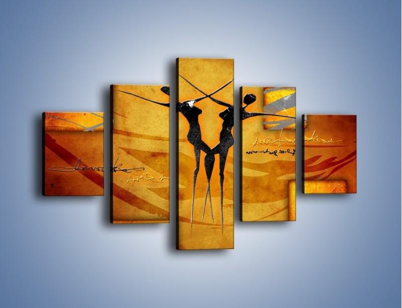 Obraz na płótnie – Dotyk w tańcu – pięcioczęściowy GR633W1