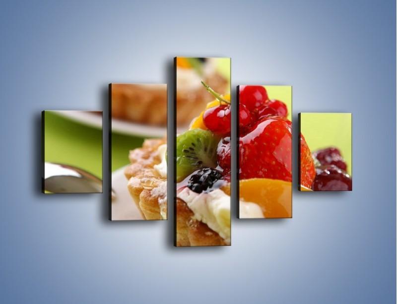 Obraz na płótnie – Owocowe babeczki z kremem – pięcioczęściowy JN021W1