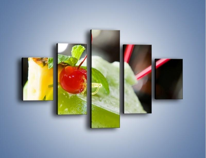 Obraz na płótnie – Owocowy sorbet – pięcioczęściowy JN055W1
