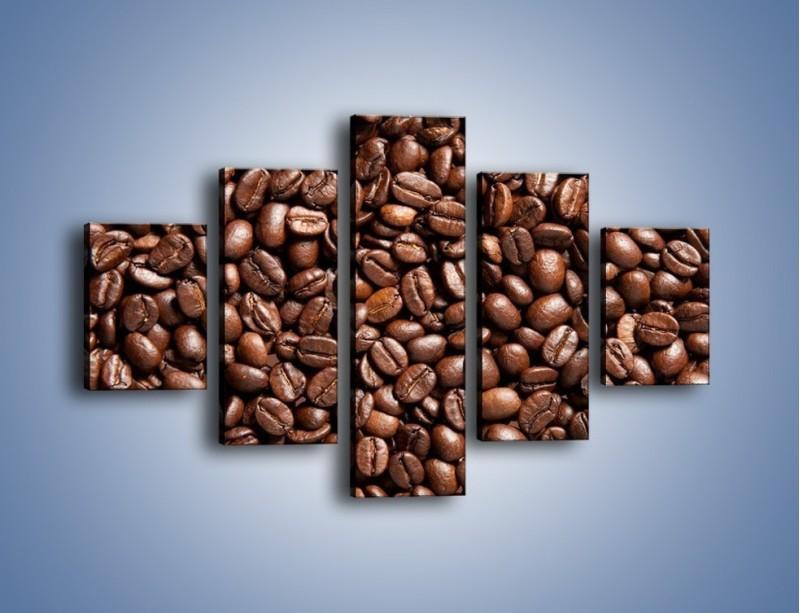 Obraz na płótnie – Ziarna świeżej kawy – pięcioczęściowy JN061W1