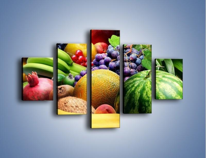 Obraz na płótnie – Stół pełen dojrzałych owoców – pięcioczęściowy JN072W1