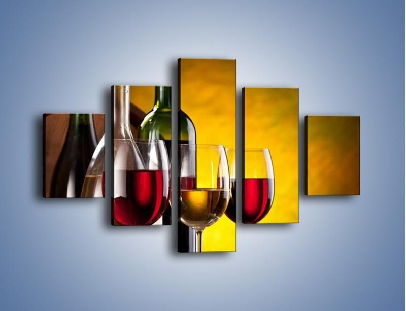 Obraz na płótnie – Wino z orzechami – pięcioczęściowy JN077W1