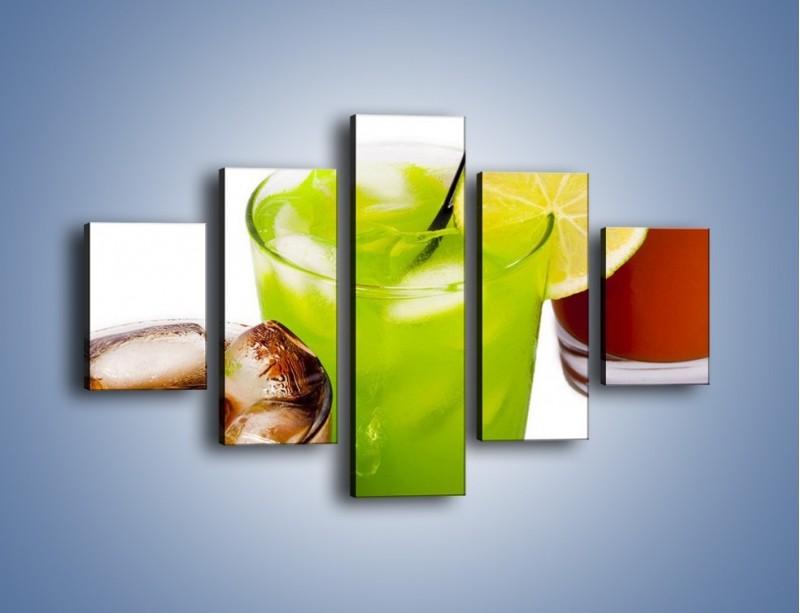 Obraz na płótnie – Kwaśno-słodkie drinki – pięcioczęściowy JN093W1