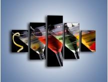 Obraz na płótnie – Alkoholowa zabawa do rana – pięcioczęściowy JN100W1