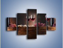 Obraz na płótnie – Beczuszki czerwonego wina – pięcioczęściowy JN142W1
