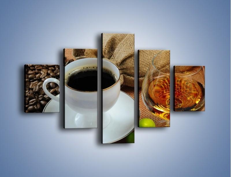 Obraz na płótnie – Wieczorowa kawa z prądem – pięcioczęściowy JN166W1