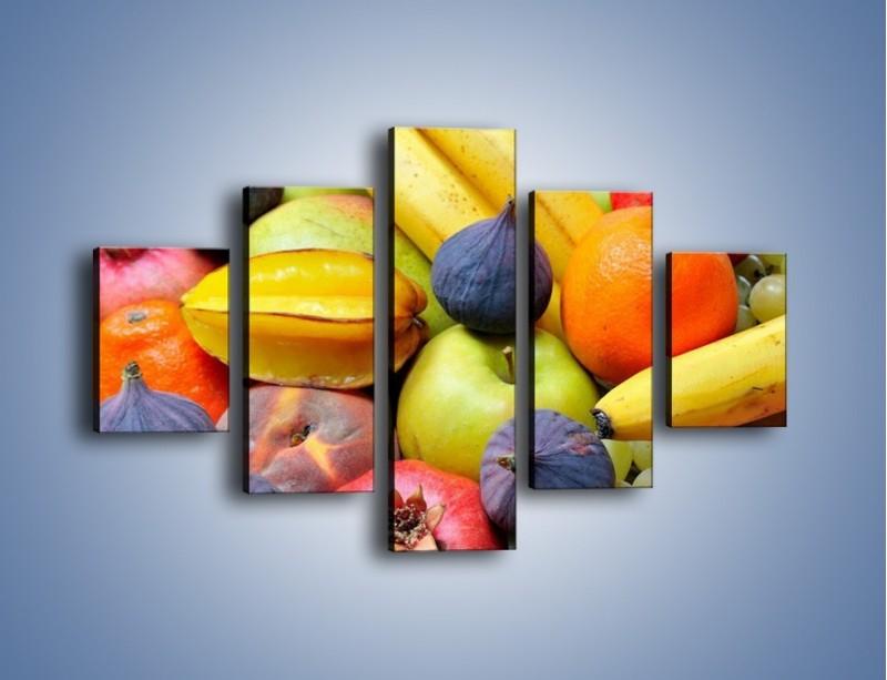 Obraz na płótnie – Owocowe kolorowe witaminki – pięcioczęściowy JN173W1