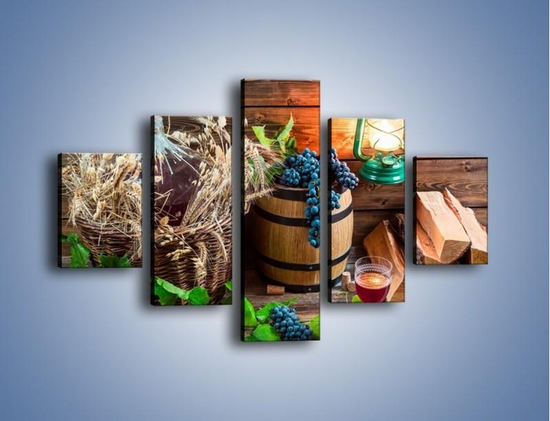 Obraz na płótnie – Wino według własnego przepisu – pięcioczęściowy JN202W1