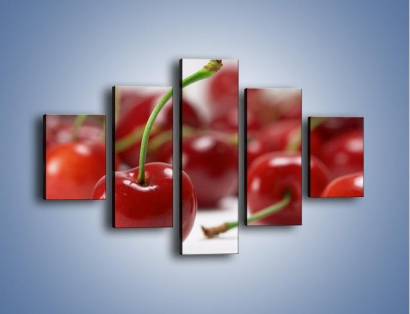 Obraz na płótnie – Czereśnia rządzi w kuchni – pięcioczęściowy JN223W1
