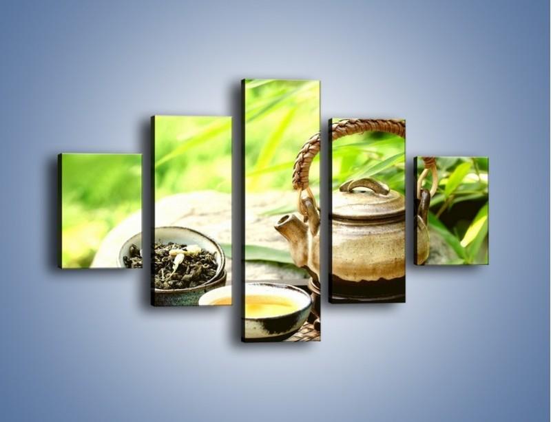Obraz na płótnie – Herbata na świeżym powietrzu – pięcioczęściowy JN249W1