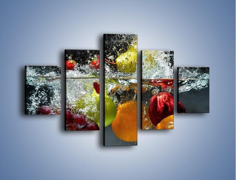 Obraz na płótnie – Głębokie owocowe zanurzenie – pięcioczęściowy JN253W1