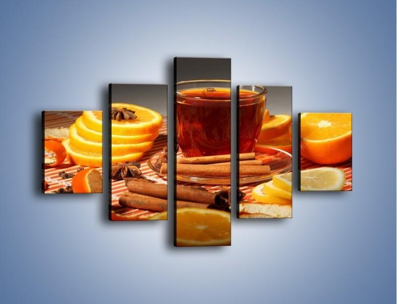 Obraz na płótnie – Imbirowo-pomarańczowe rozluźnienie – pięcioczęściowy JN260W1