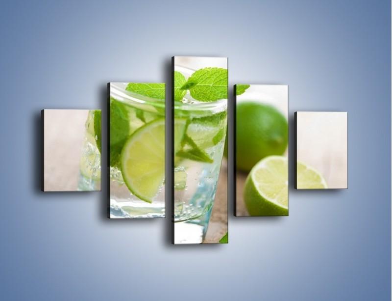 Obraz na płótnie – Limonkowy napój – pięcioczęściowy JN262W1