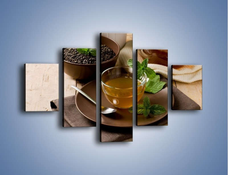 Obraz na płótnie – Filiżanka herbaty na poprawę humoru – pięcioczęściowy JN264W1