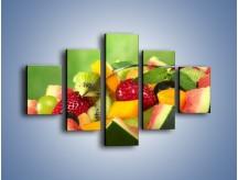 Obraz na płótnie – Arbuzowa misa z owocami – pięcioczęściowy JN274W1